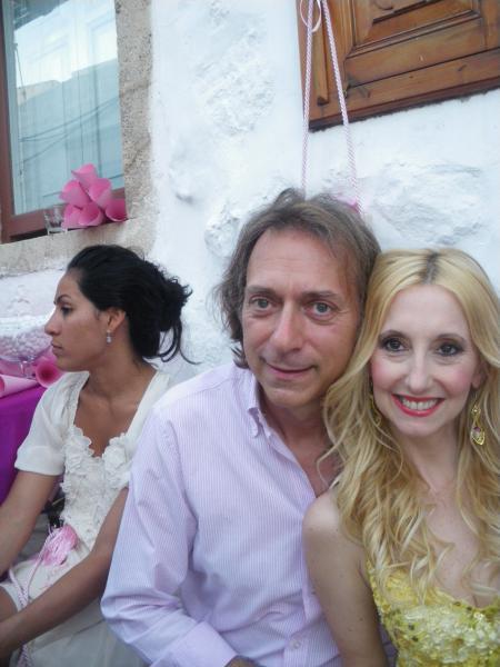 Ο Μιχάλης Μουσού με τη Μαριλένα Παναγιωτοπούλου το καλοκαίρι στην Πάτμο