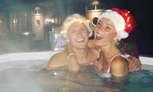 O Χίλιεμαρκ και η σύντροφός του στο τζακούζι. Τι γιορτάζουν; (pic)