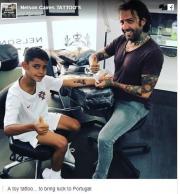 O 8χρονος γιος του Κριστιάνο... χτύπησε το πρώτο του τατουάζ (pic)