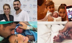 Έλληνες και ξένοι σταρ των γηπέδων που έγιναν γονείς το 2018 (pics)