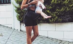 Έξι μήνες μετά τη γέννηση της κόρης της είναι και πάλι έγκυος (vid)